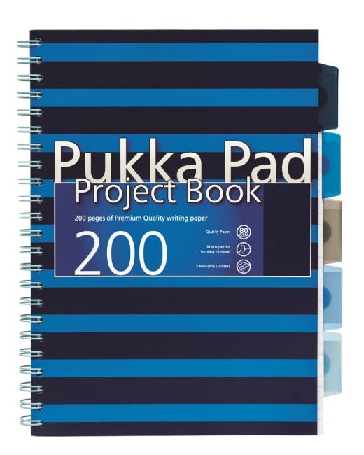 Pukka Pad projektový  blok Navy Blue A4, papír 80g,100 listů, modrý