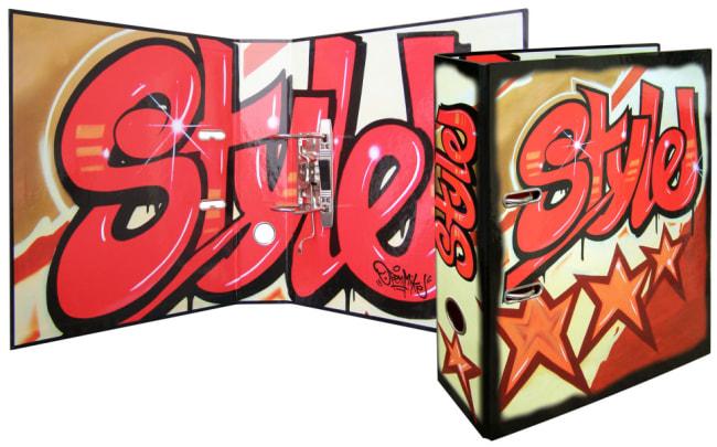Designový pákový pořadač A4 7cm karton motiv  Graffiti (STYLE)