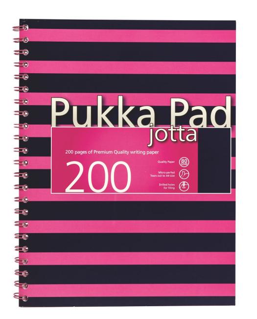 Pukka Pad spirálový  blok Navy Pink Jotta A4, papír 80g,100 listů, tmavě růžový