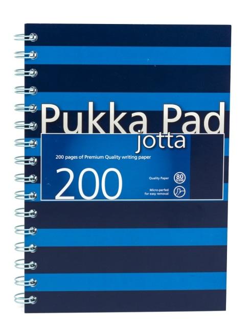 Pukka Pad spirálový  blok Navy Blue Jotta A5, papír 80g,100 listů, modrý