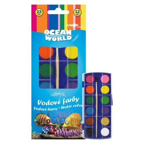 Barvy vodové Foska 23 mm 12 barev