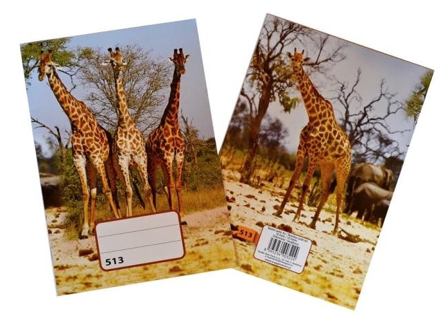 sešit 513,  A5, 10 listů, linkovaný 12 mm, motiv žirafy