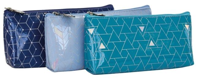 Pukka Pad Glee penál/pouzdro na zip, modrý, 190x90x20mm
