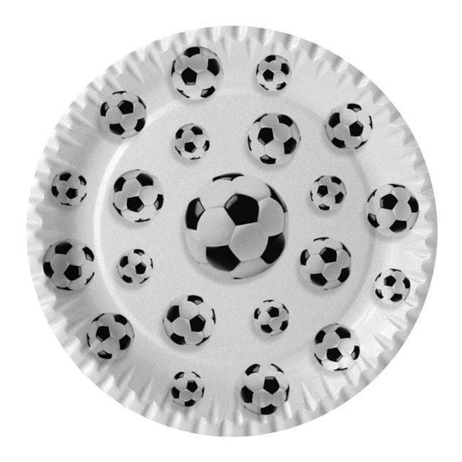 Párty talíř Fotbal, průměr 23cm, v balení 10ks