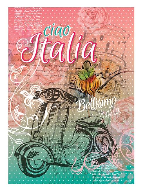 záznamová kniha A4, tvrdá obálka, 80 listů,80 gr, Kolekce Shiny, motiv Itálie