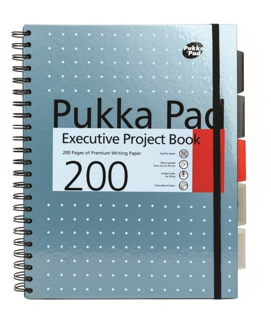 Pukka Pad projektový  blok Metallic Executive A4, papír 80g,100 listů, modrý
