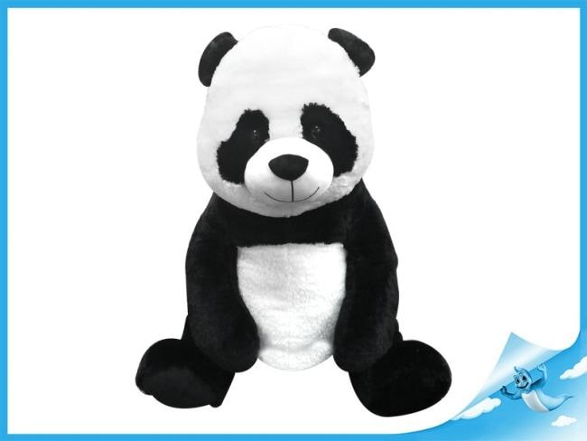 Panda plyšová 85cm sedící 0m+ v sáčku