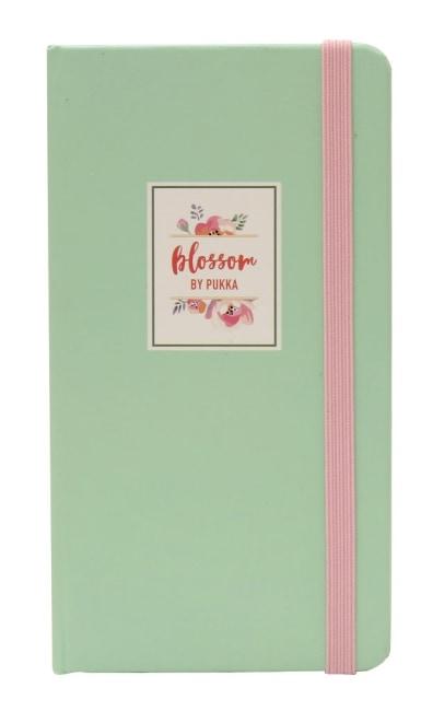 Zápisník s elastickým uzávěrem,sv.zelený, 60 listů, papír 80g, 75x135mm