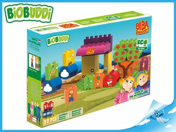 Stavebnice BiOBUDDi BIBA Boerderij farma 32ks 18m+ v krabičce