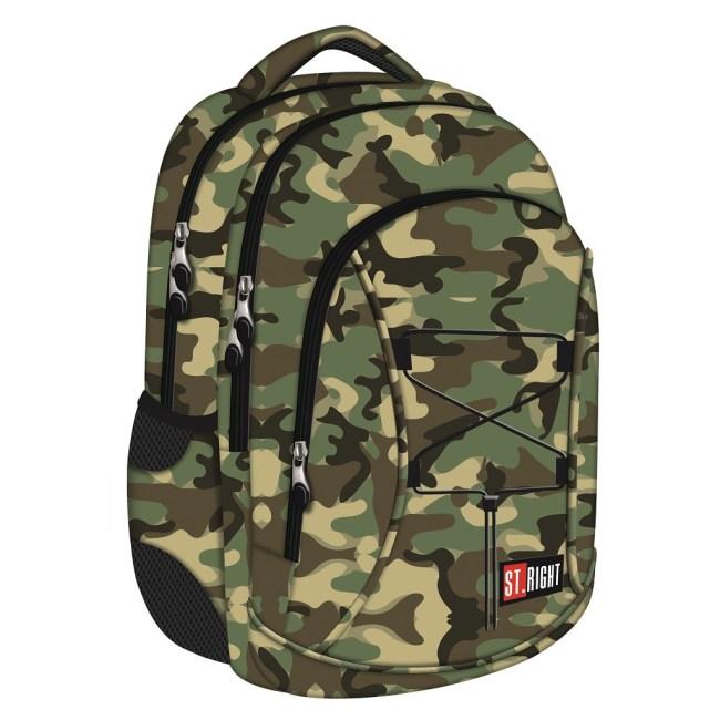 studentský batoh St.RIGHT - MORO,  3 komorový BP32