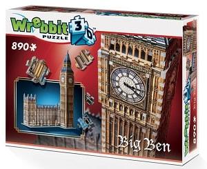 3D Puzzle - Big Ben Hous of Parliament - Queen Elisabeth Tower 890 dílků