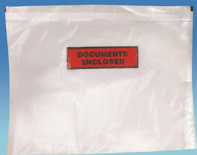Nalepovací obálka C4 s potiskem  Documents enclosed rozměr 310 x 230 +25