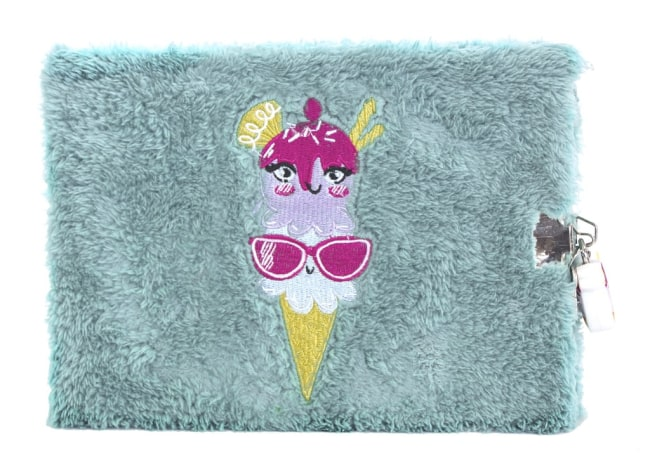 Pukka Pad Fluffy zápisník se zámečkem,světle modrý,72listů