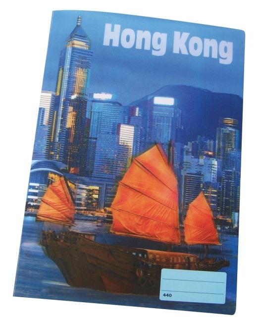 sešit 440 s 3D motivem ,A4, 40 listů,bez linek, motiv Hong Kong