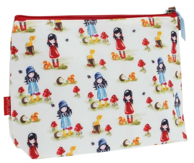 Kosmetická taška velká Santoro London – Pastel Pattern Toadstools, 23 x 18.5 x 9.5cm