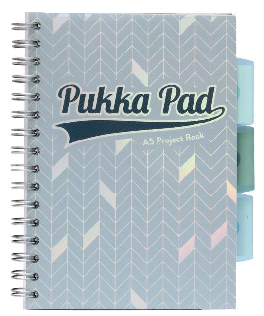 Pukka Pad projektový  blok Glee A5, papír 80g,100 listů, světle modrý