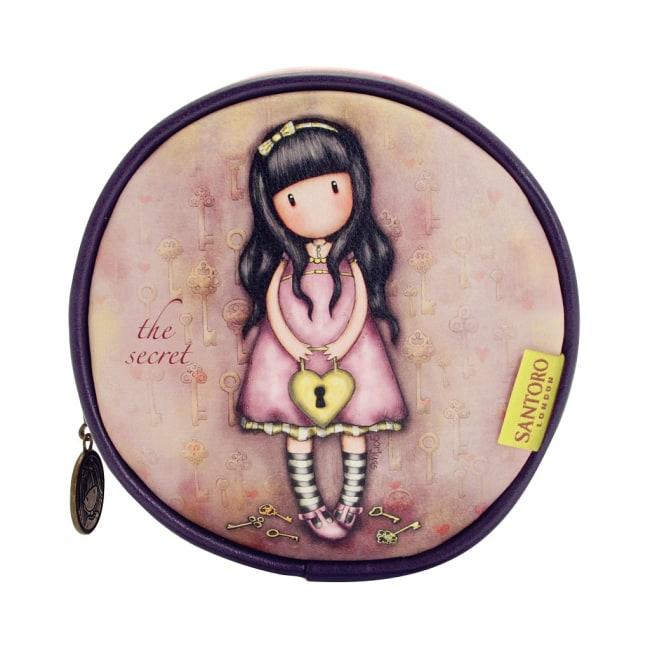 Kruhová taška na kosmetiku Santoro London - The Secret, Rozměry: 13 x 13 x 5 cm
