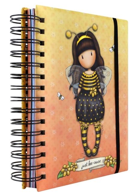 Kroužkový zápisník Santoro London - Bee Loved (Just Bee-Cause), 21 x 18 x 3 cm