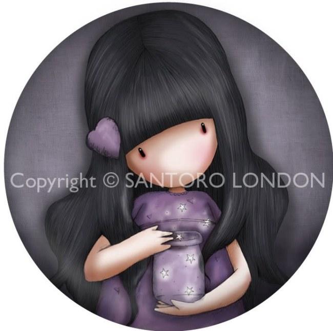 Magnet kulatý Santoro London -  We Can All Shine, 5.8cm průměr x 0.5cm
