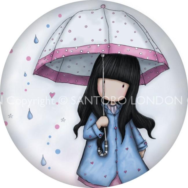 Magnet kulatý Santoro London - Puddles Of Love, 5.8cm průměr x 0.5cm