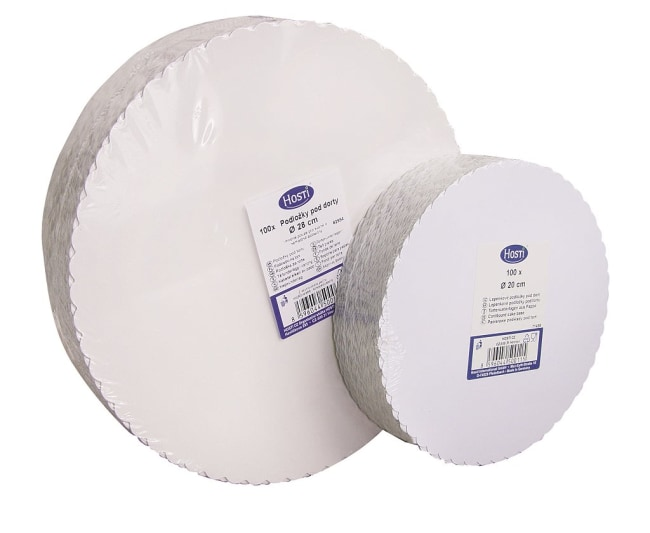lepenkové podložky pod dort 30 triplex/H, průměr 30 cm, v balení 100ks