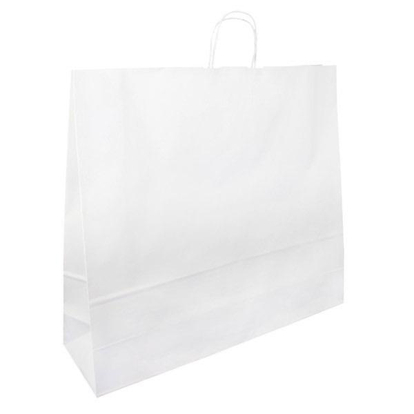 Papírová taška bílá 54x14x50 kroucené ucho Toptwist
