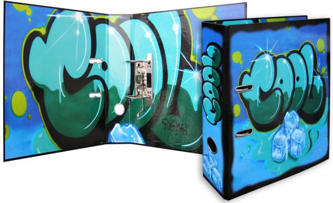 Designový pákový pořadač A4 7cm karton motiv  Graffiti(COOL)