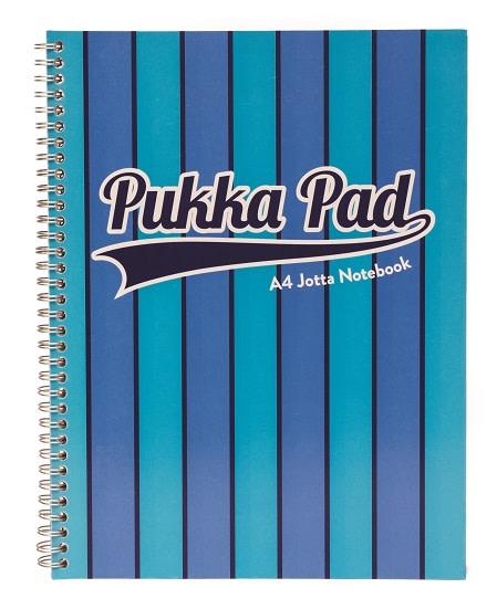Pukka Pad spirálový blok Jotta Pad A4, 200 stran, linky 8 mm, modrý