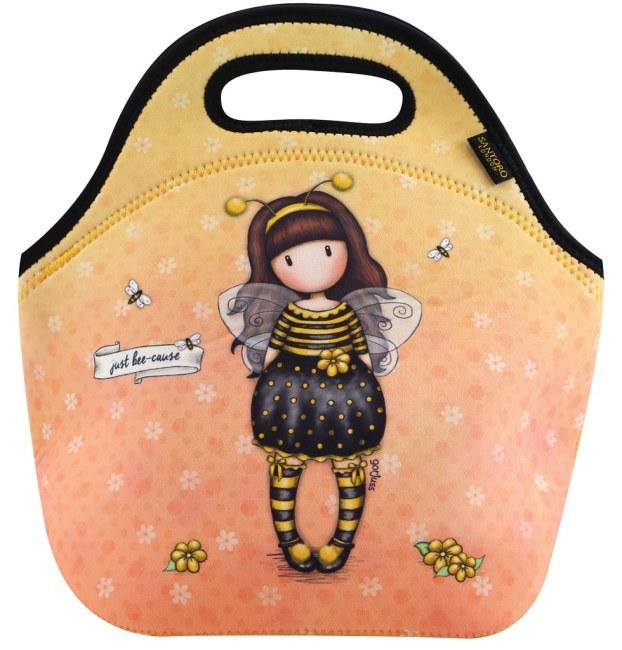 Neoprenová taška na jídlo Santoro -Bee Loved (Just Bee-Cause) , Rozměry: 30 x 29 x 16,4 cm