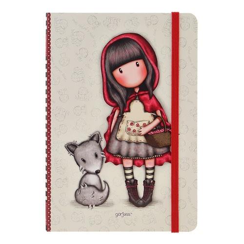Zápisník A5 linkovaný Santoro London -  Little Red Riding Hood