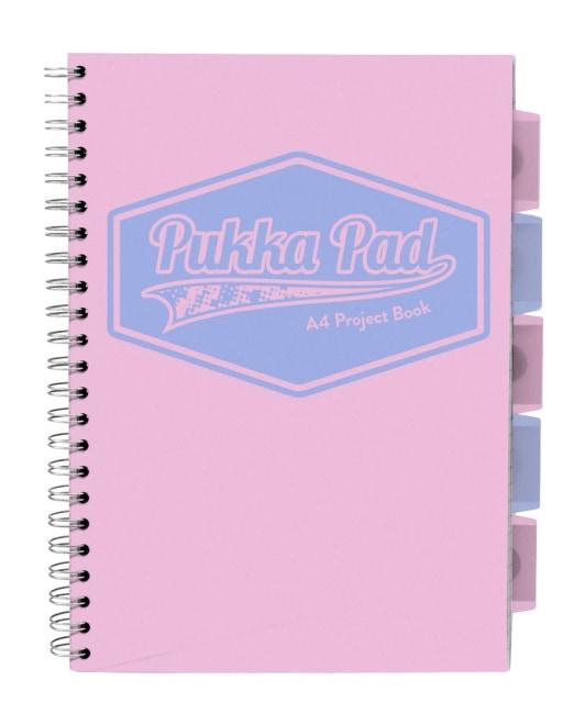 Pukka Pad projektový  blok  Pastel A4, papír 80g,100 listů, růžový