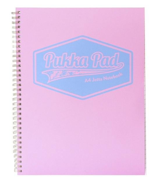 Pukka Pad spirálový  blok  Pastel, A4, papír 80g,100 listů, růžový