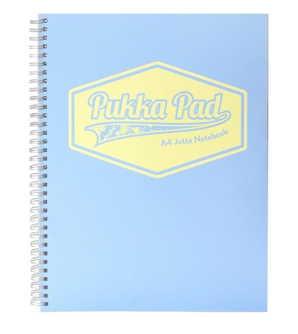 Pukka Pad spirálový  blok Pastel  A4, papír 80g,100 listů, světle modrý
