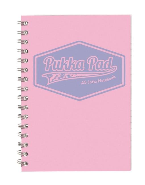 Pukka Pad spirálový  blok  Pastel A5, papír 80g,100 listů, růžový