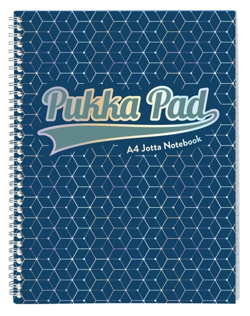 Pukka Pad spirálový blok GLEE Jotta A4+, papír 80g, 100listů, tmavě modrý