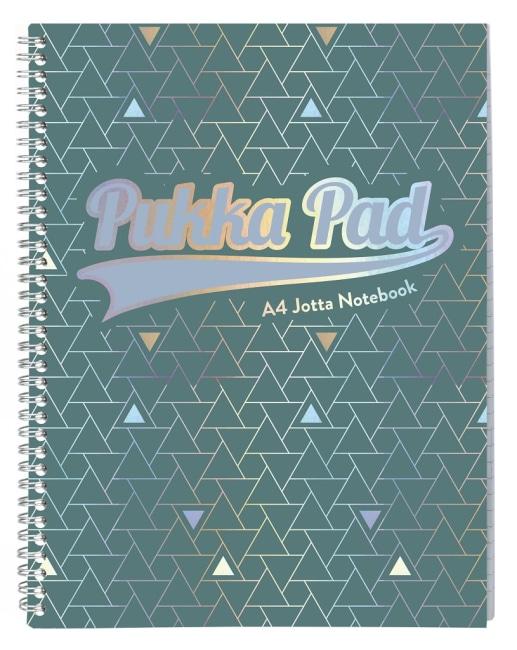 Pukka Pad spirálový blok GLEE Jotta A4+, papír 80g, 100listů, zelený