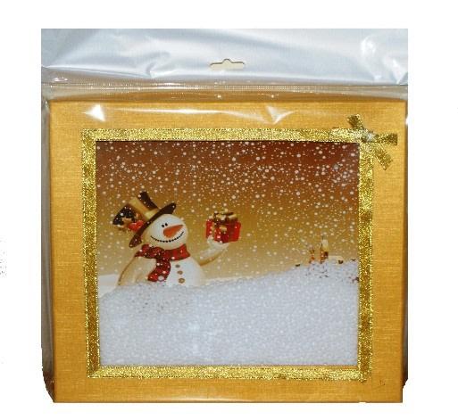 Skládací krabice s vánočním motivem 170x170x170 mm,červeno/zlatá