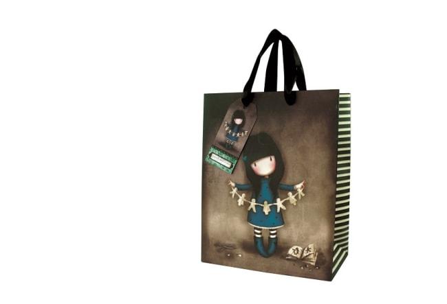Dárková taška střední Santoro London - Family In A Book, Rozměry: 18 x 22,5 x 10 cm
