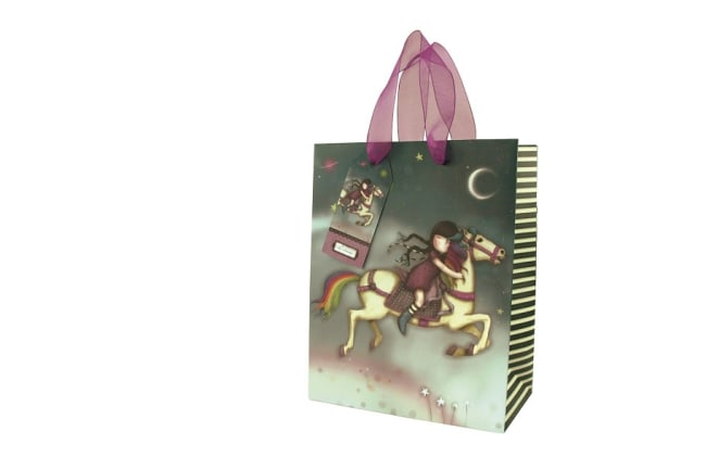 Dárková taška střední Santoro London – The Runaway, Rozměry: 18 x 22,5 x 10 cm