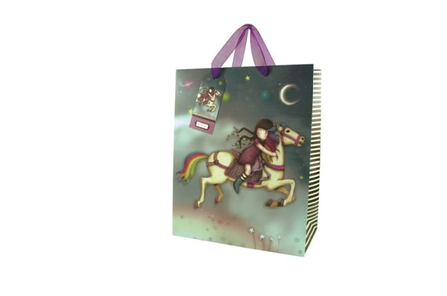 Dárková taška velká Santoro London – The Runaway, Rozměry: 26,4 x 32,7 x 13,6 cm