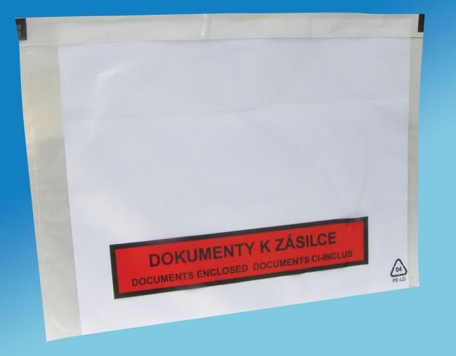 Nalepovací obálky C5 230 x 170 mm s potiskem Dokumenty k zásilce