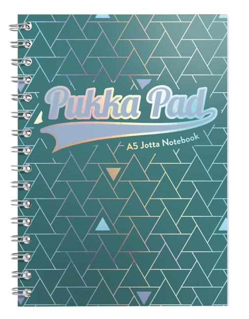 Pukka Pad spirálový blok GLEE Jotta A5, papír 80g, 100listů, zelený