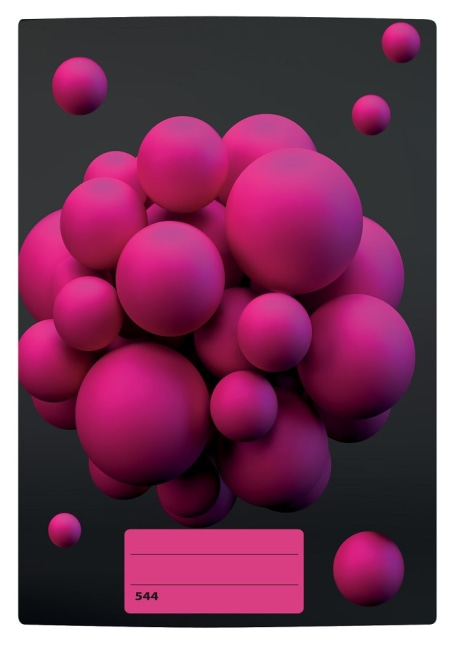 sešit 544 s 3D motivem, A5, 40 listů,linkovaný, motiv atomy
