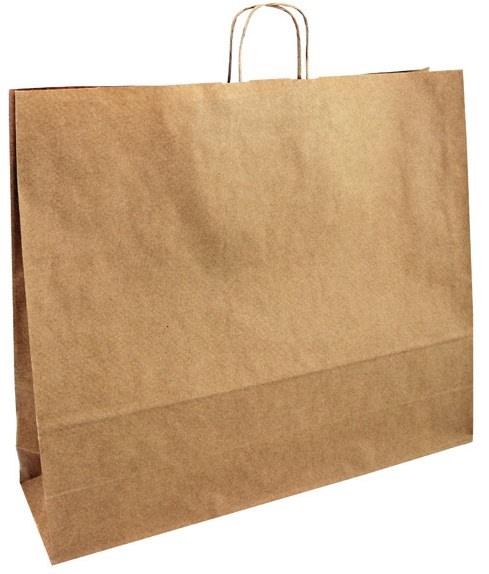 Papírová taška hnědá 54x14x50 kroucené ucho Toptwist