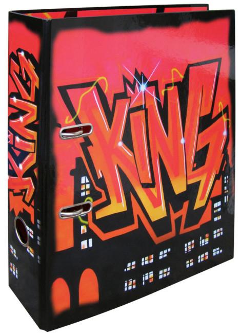 Designový pákový pořadač A4 7cm karton motiv  Graffiti  (KING)