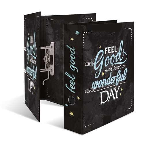 Designový pákový pořadač A4 7cm karton motiv - Feel good