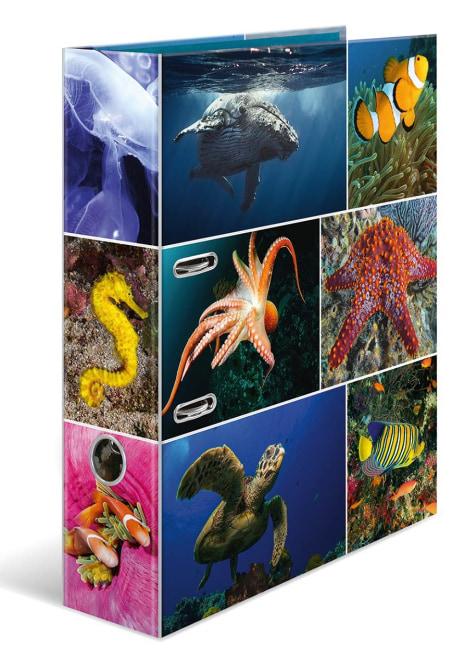 Designový pákový pořadač A4 7cm karton motiv Animals- podmořský svět