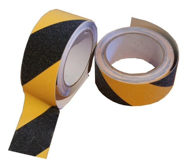 LP BEZPEČNOSTNÍ protiskluzová žluto-černá 50 x 5m