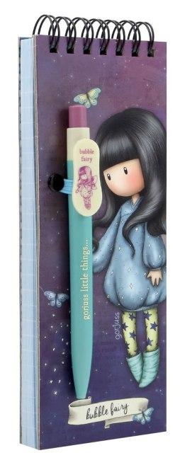 Poznámkový bloček s perem Santoro London - Bubble Fairy, 7 x 20 x 1.2cm