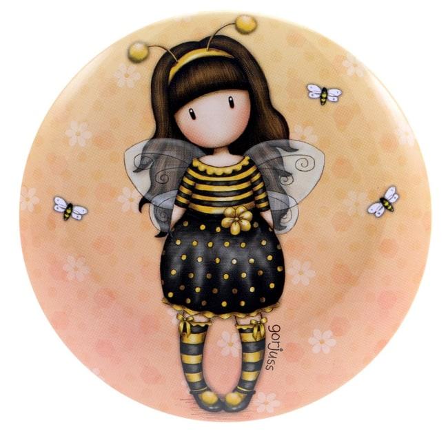 Kulaté plechové pouzdro Santoro London – Bee Loved, průměr 9cm x výška 6cm